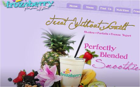 Frozeberry Frozen Yogurt, Orlando Graphic Design